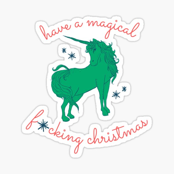 A Magical Christmas (Naughty List version) Sticker