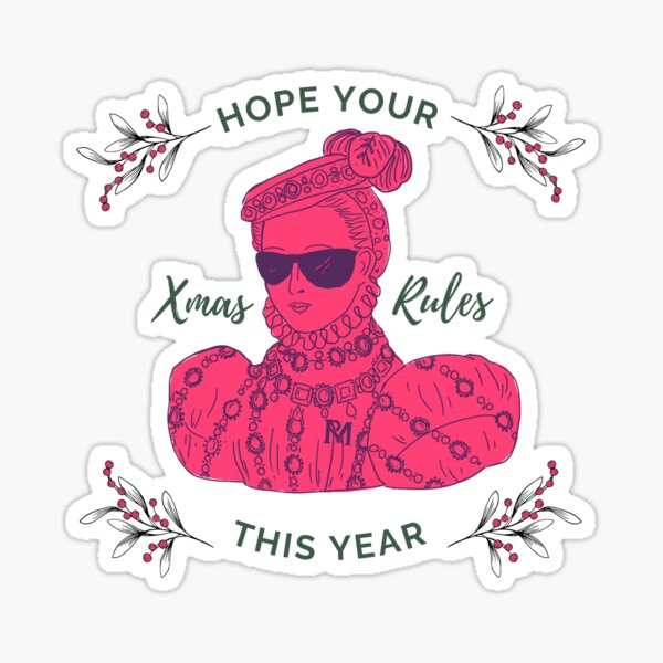 Make This Christmas Rule Sticker