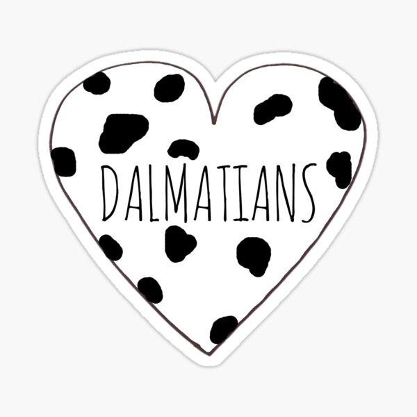 Dalmatian Love Sticker