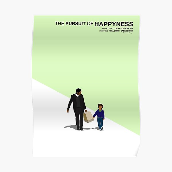 The pursuit of happiness movie minimalist poster Poster