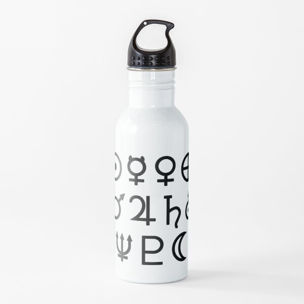 Astronomical planet symbols Water Bottle