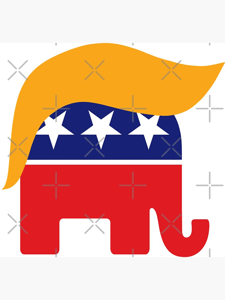 Donald Trump GOP Republican Elephant Hair Logo by Jeffest
