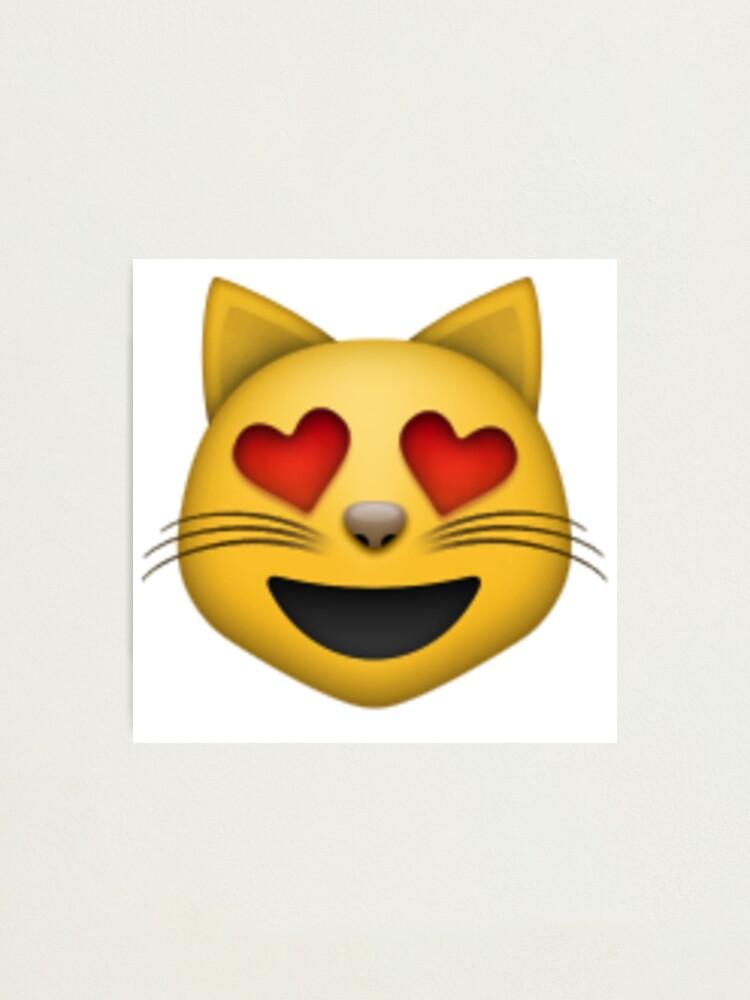 Mit bedeutung katze emoji herzaugen 😻 Lächelnde
