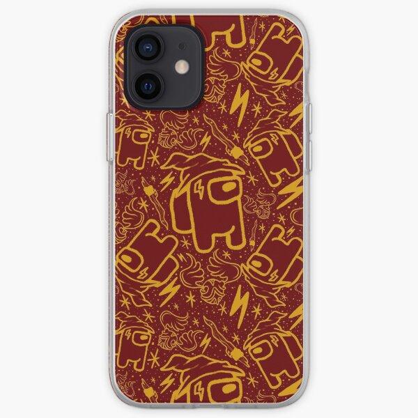 Compañero mágico, rojo y dorado Funda blanda para iPhone
