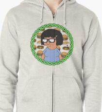 Tina ft Burgers Zipped Hoodie