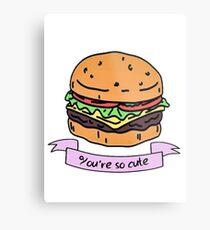 you're so cute // burger Metal Print
