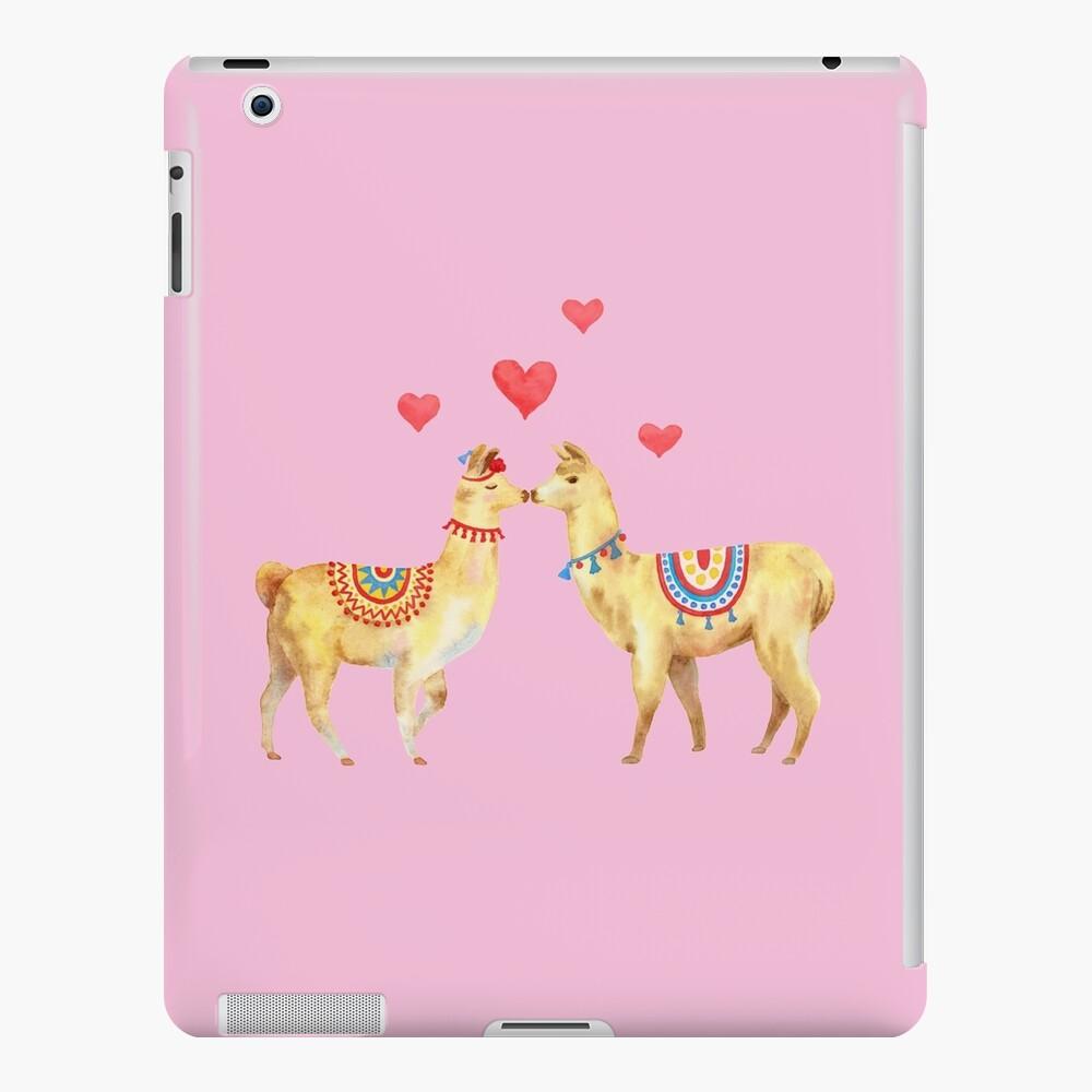 Llamas in llove 1 iPad Case & Skin