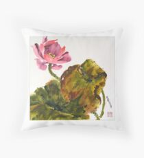 Lotus Blossom, the Flower of the Buddha Throw Pillow