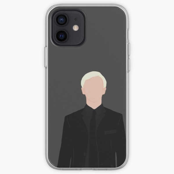 Masque de costume noir Draco Malfoy Sticker Coque souple iPhone