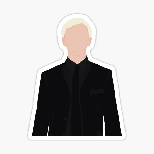 Máscara de traje negro de Draco Malfoy pegatina Pegatina