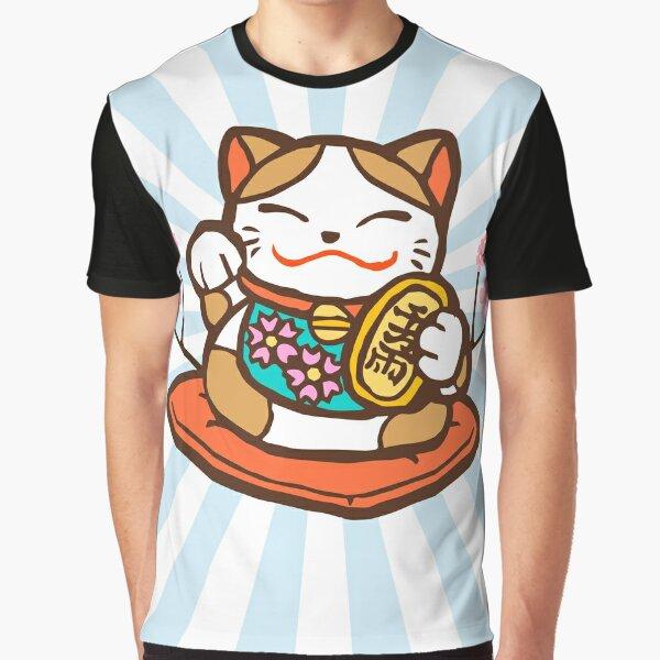 Lucky Maneki Neko Cat Graphic T-Shirt