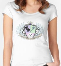 Glitter Family Crest - Color Women's Fitted Scoop T-Shirt