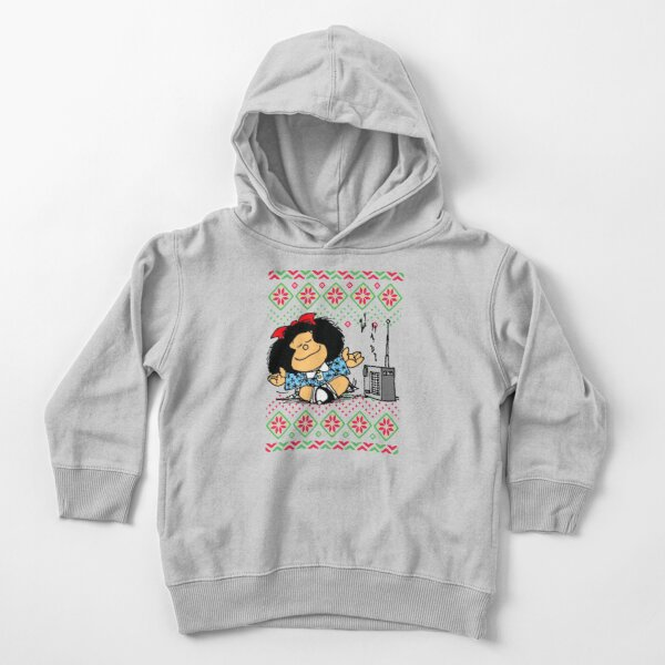 Copy of Copy of Copy of Mafalda and flowers Sudadera con capucha para bebé