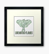 Like Moths to Flowers Framed Print