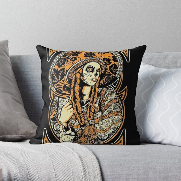 Santa Muerte Throw Pillow