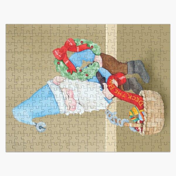 Blue Christmas Elf Jigsaw Puzzle Jigsaw Puzzle