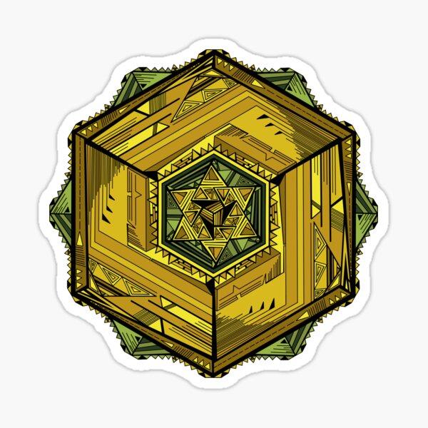 Base3Cube Mandala Sticker