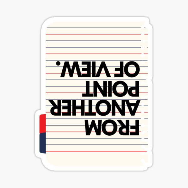 Phrase From another point of view Sticker
