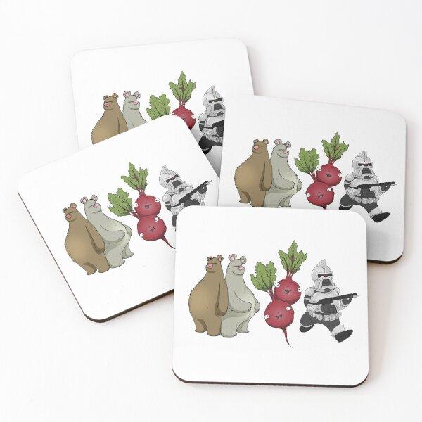 Bears, Beets, Battlestar Galactica Horizontal Design Coasters (Set of 4)