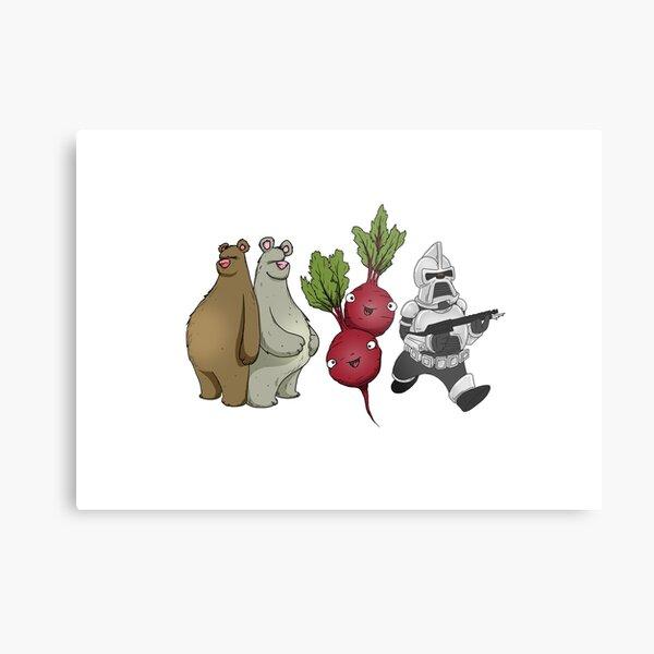 Bears, Beets, Battlestar Galactica Horizontal Design Metal Print