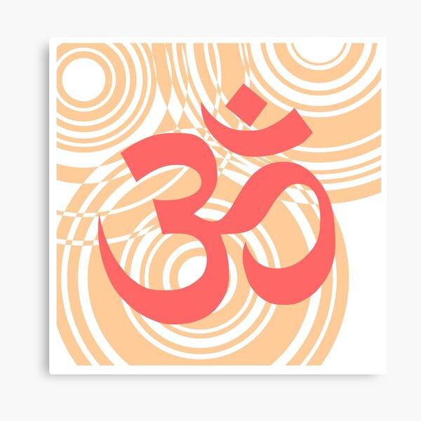 yoga aum logo font Canvas Print