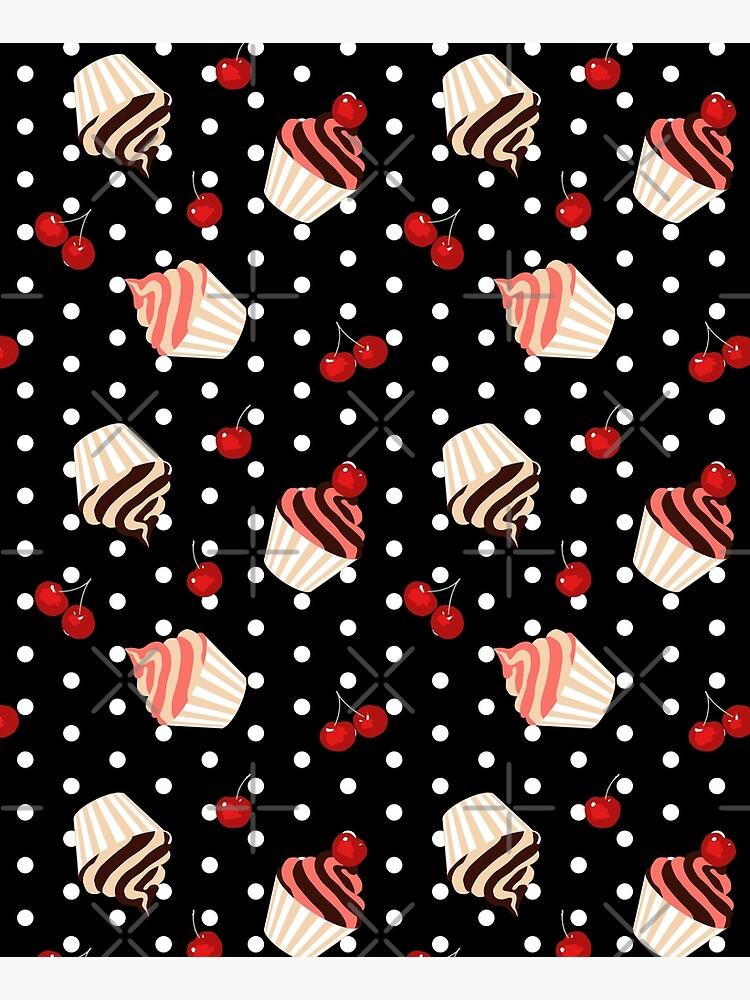 Rockabilly Cherry Cupcakes by nadyanadya