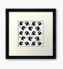 Chain CHOMP! White BG  Framed Print