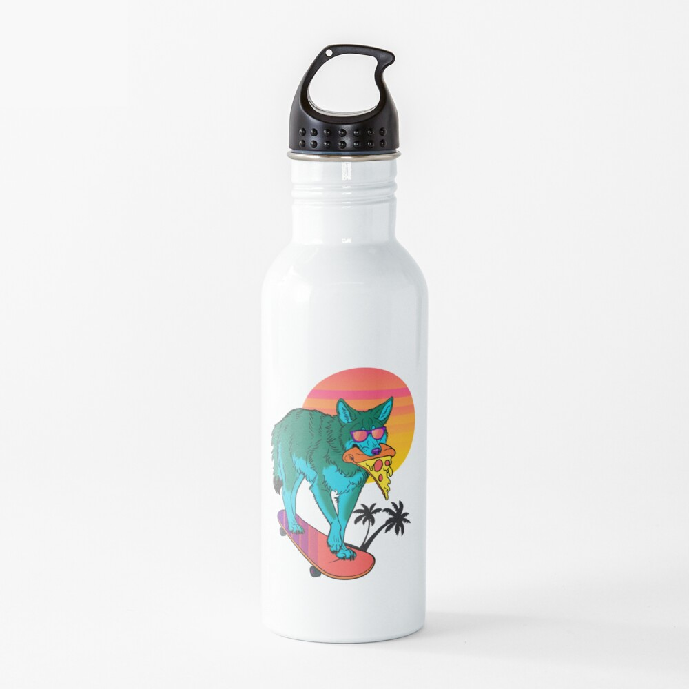 Vaporwave Coyote Water Bottle