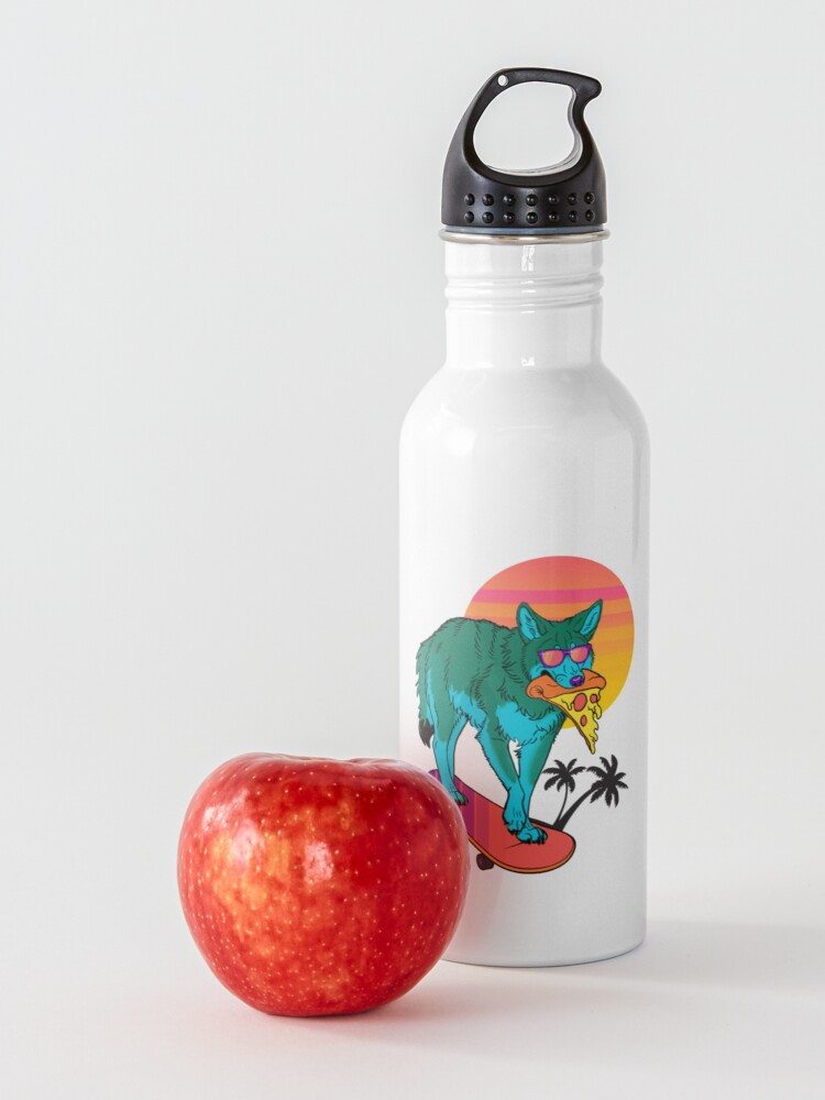Alternate view of Vaporwave Coyote Water Bottle