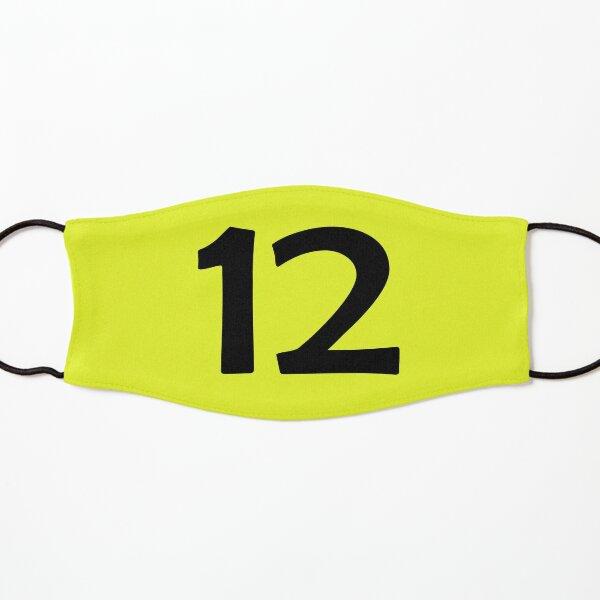 number twelve (12) black Kids Mask