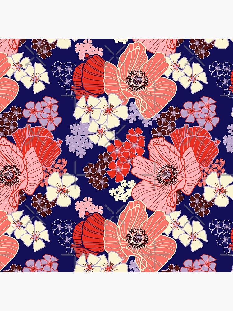 Wild Poppies pattern by nadyanadya