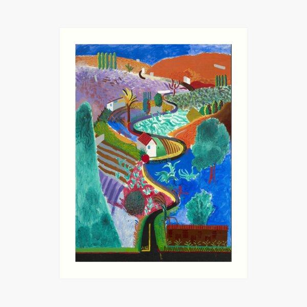 david hockney nichols canyon Art Print