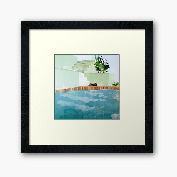David Hockney piscine et marches Impression encadrée