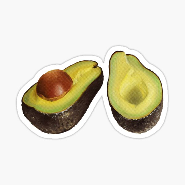Avocado mood Sticker