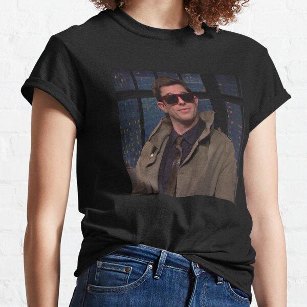 John Mulaney in coat on seth myers Classic T-Shirt