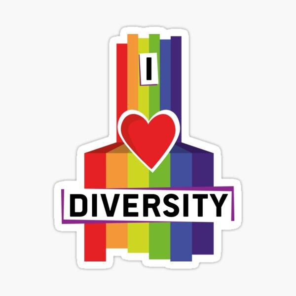 I love diversity Sticker