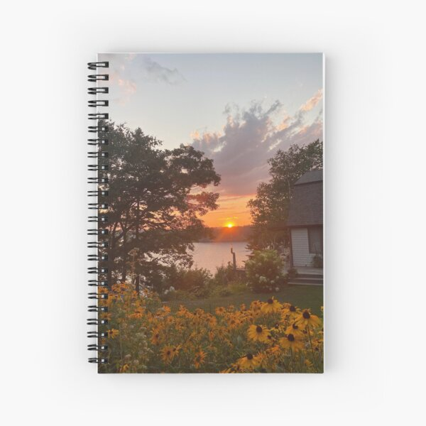 Sunset and Yellow Daisys Spiral Notebook