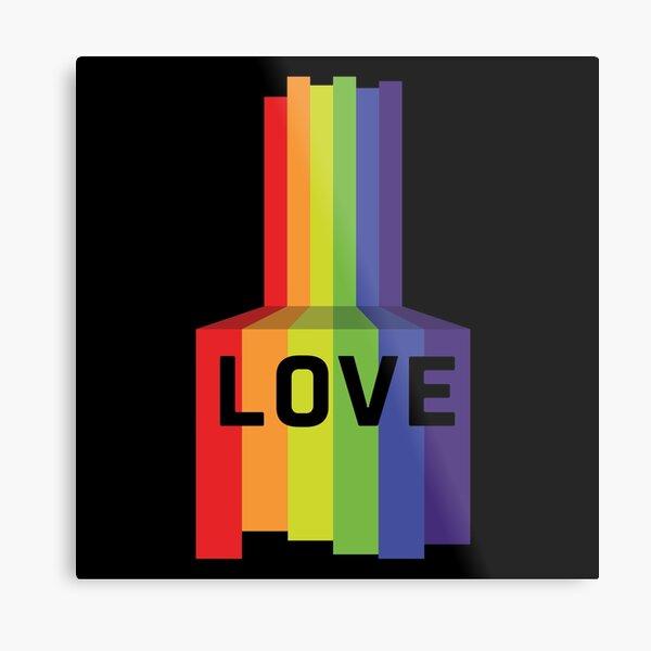 LOVE - Pride Metallbild