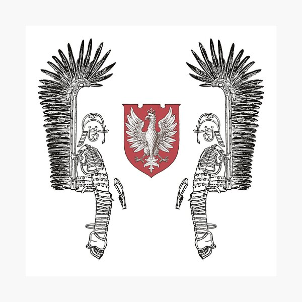 Winged Hussar Armor with Polish Eagle Arm Coats Photographic Print