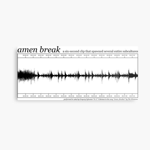 Amen Break (Black) Metal Print