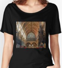 Beautiful Arches of Exeter Cathedral, Devon UK Women's Relaxed Fit T-Shirt