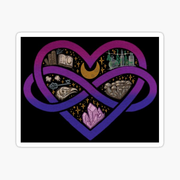 Bisexual Polyamorous Witch Sticker