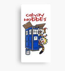 calvin and hobbes police box  Canvas Print