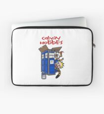 calvin and hobbes police box  Laptop Sleeve