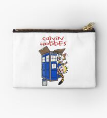 calvin and hobbes police box  Studio Pouch