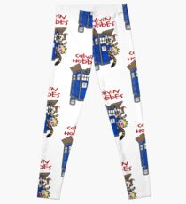 calvin and hobbes police box  Leggings