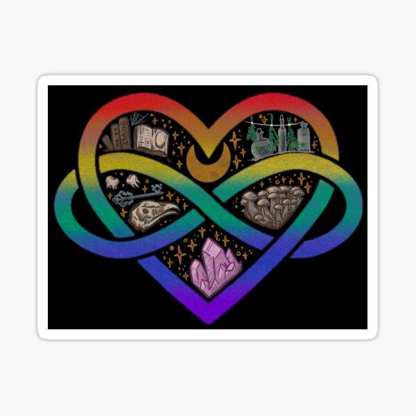 Gay Polyamorous Witch Sticker