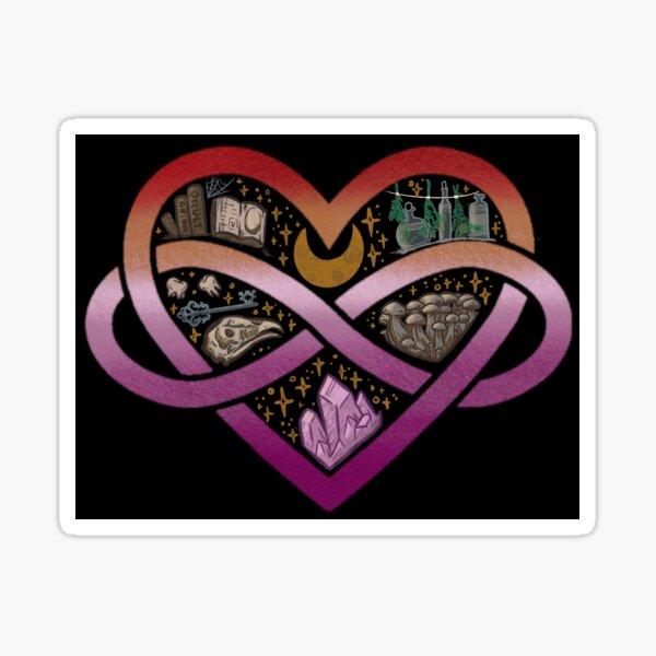 Lesbian Polyamorous Witch Sticker