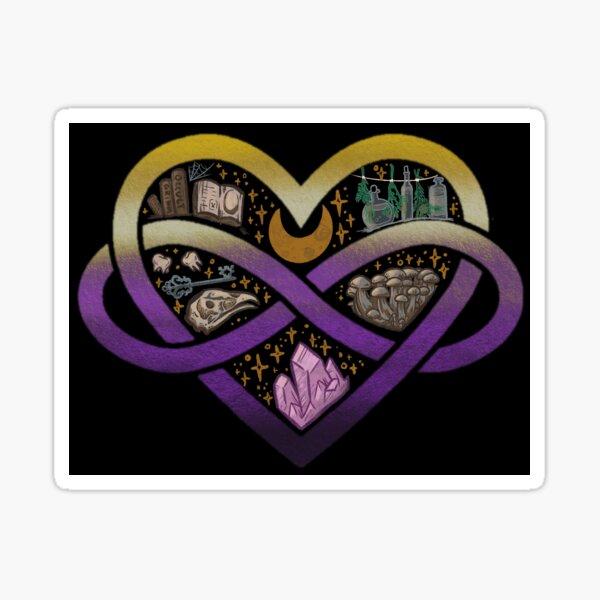 Nonbinary Polyamorous Witch Sticker