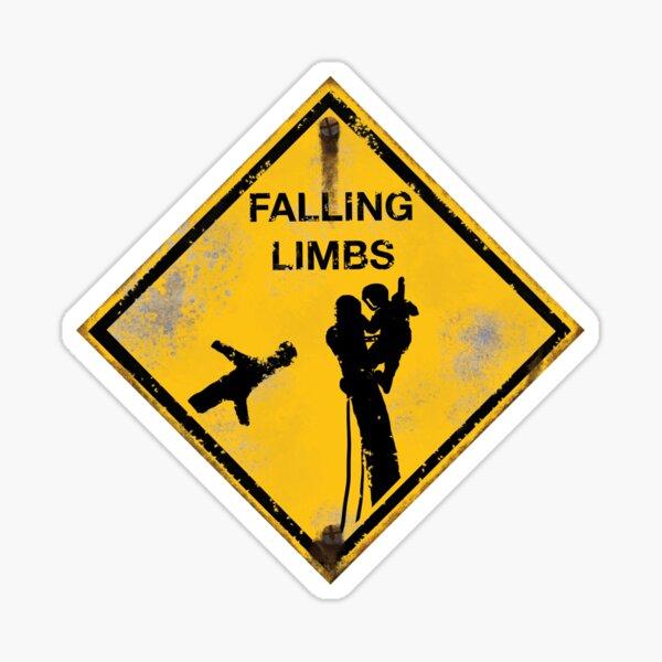 Falling Limbs Sticker